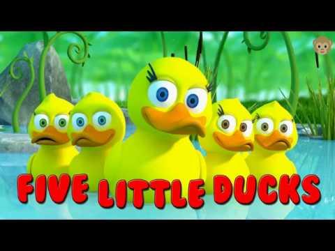 Детские песни на английском языке - Пять маленьких утят на английском - Лучшие детские песни