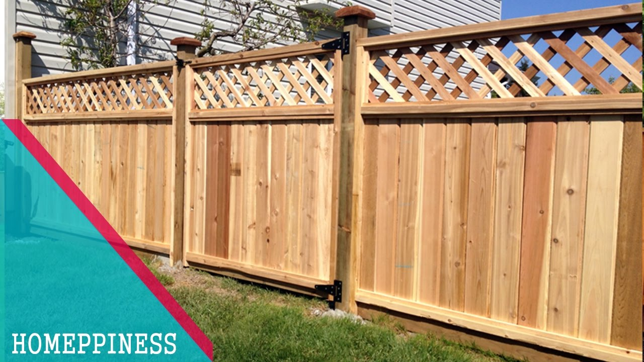 70 nice wood fence panel new design ideas 2017 - Wooden Fence Designs Ideas