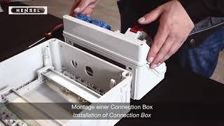 Mi - Montage einer Connection Box / Installation of Connection Box