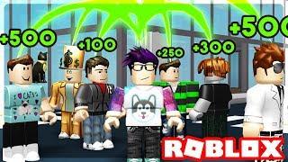 ROBLOX NOOBS GIVING ME ROBUX!?? - Cash Grab Simulator