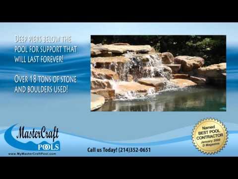 MasterCraft Pools of Dallas Swimming Pool Video  - Stone Pool Paradise