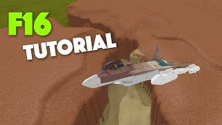 Roblox | Plane Crazy | F16 TUTORIAL!