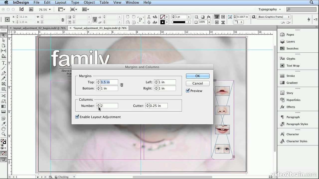 Adobe Indesign Cs6 Tutorial - 51 Layout Adjustment