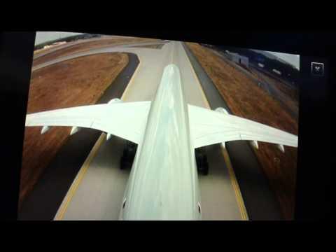Qatar Airways Flight 67 Landing in Frankfurt (Tail/Gear Camera) A350-900