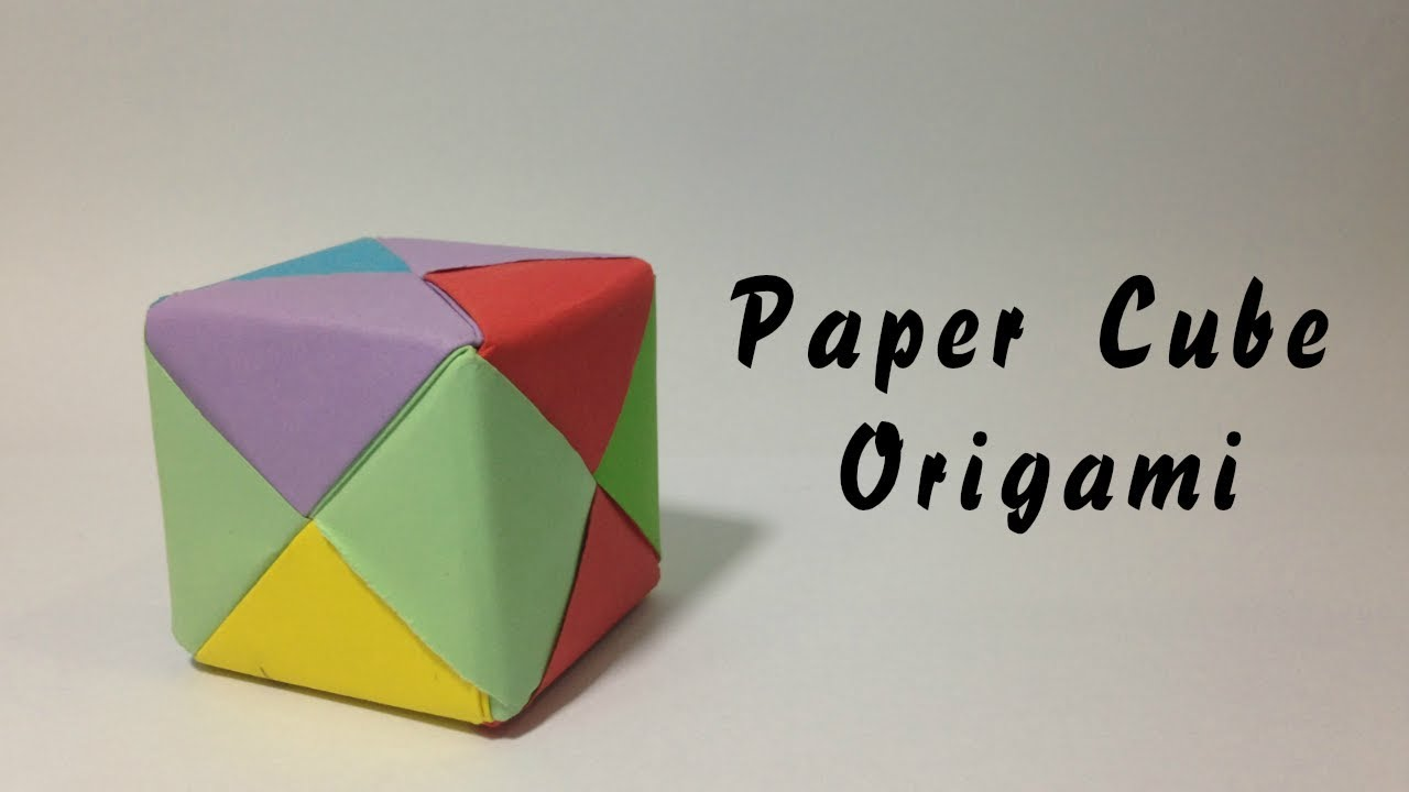 How To Make A Paper Cube Box Easy Origami Instructions