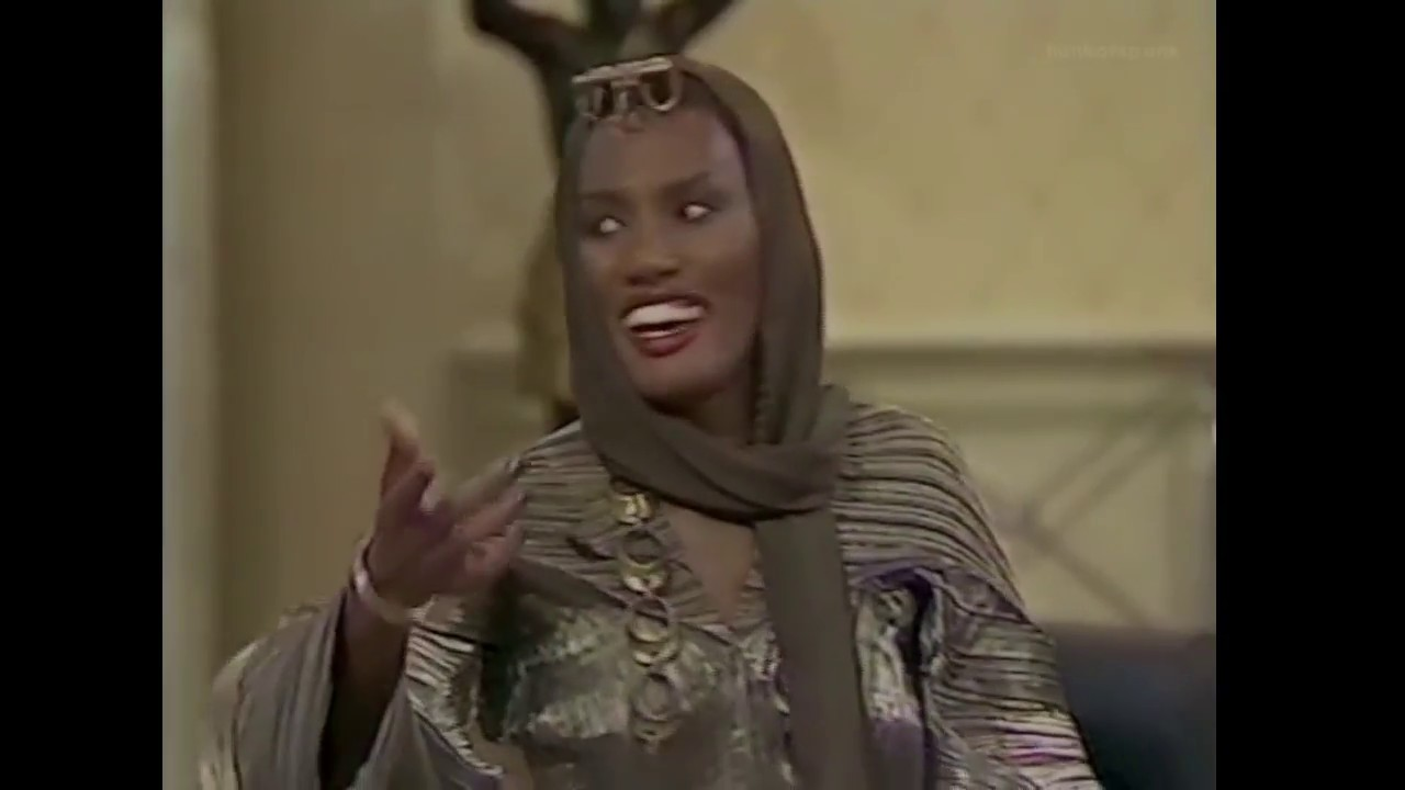 Grace Jones on The Dame Edna Experience 1989 clip