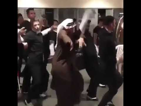 Funny old man dancing try not to laugh Arab edition #3