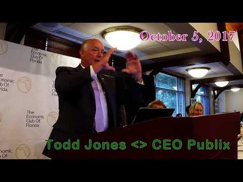Publix CEO Todd Jones at Economic Club of Florida