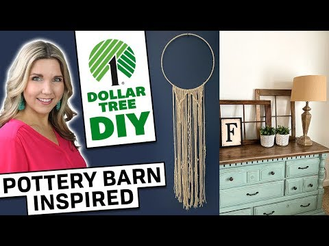 Dollar Tree DIY ⭐ Pottery Barn Inspired ⭐ Farmhouse Decor 2020