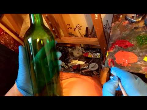 Как расписать бутылку акриловыми красками в домашних условиях