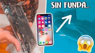 ¡METO MI NUEVO IPHONE X en el AGUA! **miedo** iPHONE vs SAMSUNG