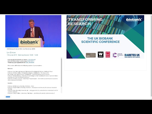 Sir John Bell - UK Biobank and the UK Life Science Industrial Strategy