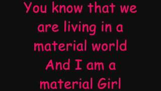 Hilary Duff Ft. Haylie Duff - Material Girl - Lyrics