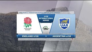 U18 Rugby  | England vs Argentina | Highlights