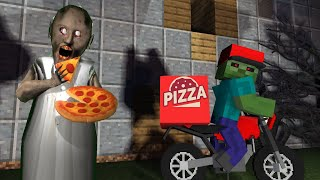 Monster School : Granny Horror Pizza Delivery Challenge - Minecraft Animation