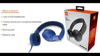 unboxing The JBL E35 Headphones