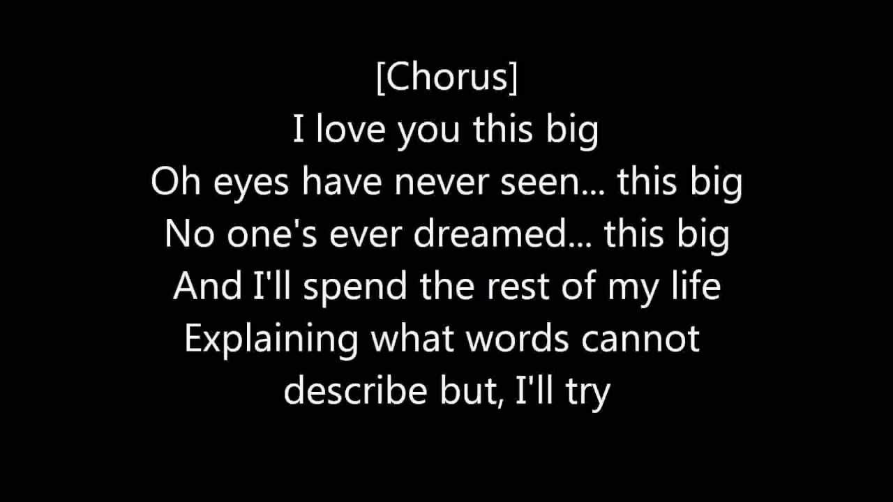 I love u this big lyrics