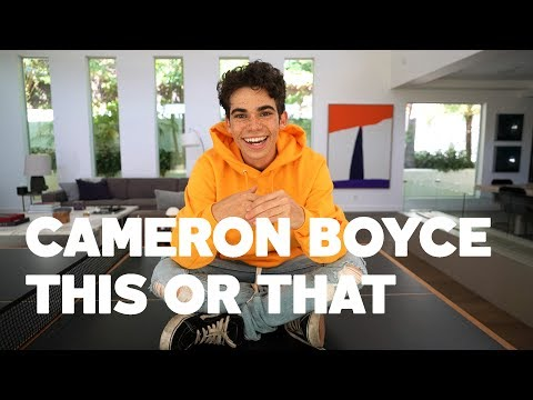 Cameron Boyce Plays RAW's This or That