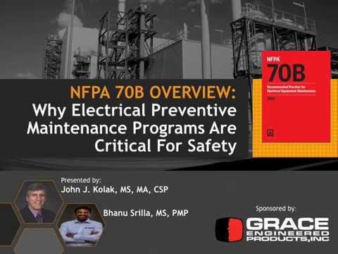 Webinar - NFPA 70B: Why Electrical Preventive Maintenance Programs Are Critical For Safety