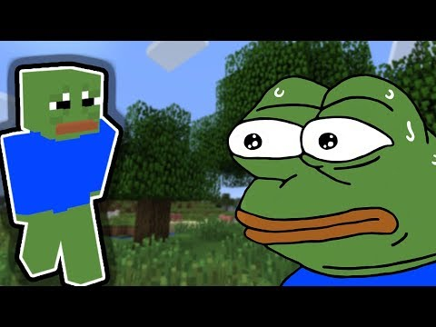 Pepe The Frog Plays Minecraft! // Unironic Minecraft Lets Play In 2019... Original Af