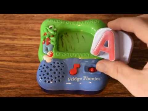 leap frog abcs fridge phonics letter a alphabet song talking toy
