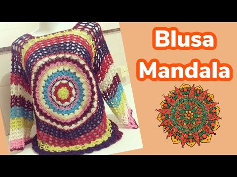 41f4ad498a Blusa MANDALA By Mony Tatsch - YouTube