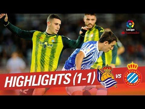 Resumen de Real Sociedad vs RCD Espanyol (1-1)