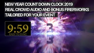 NEW YEAR COUNTDOWN 2020 10 min TIMER with crowd audio