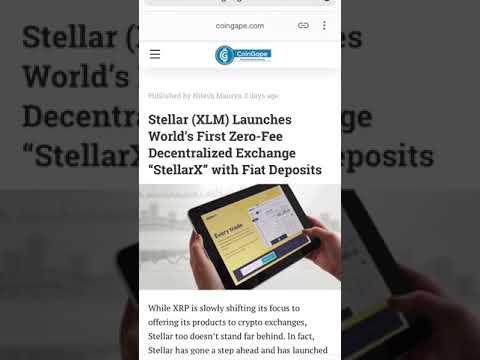 $XLM Stellar Releases Zero Cost Transaction Decentralized Exchange (StellarX)