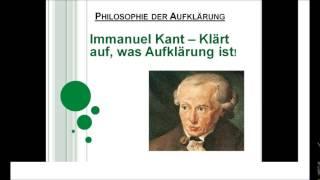 Immanuel Kant - Klärt auf, was Aufklärung ist!