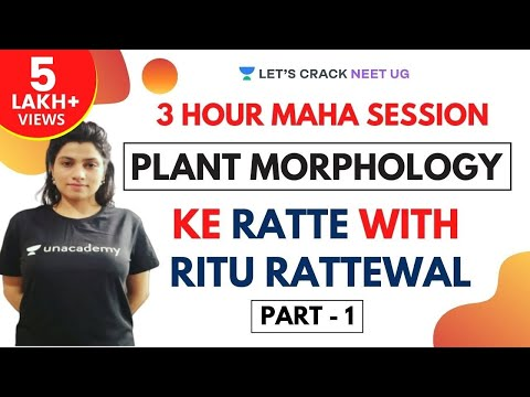 3-Hour Maha Session | Complete Plant Morphology in One-shot | Part 1 | Target NEET 2020