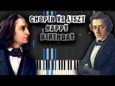 Happy Birthday - Chopin And Liszt Style - [Piano Tutorial] (Synthesia) (Download MIDI + PDF Scores)