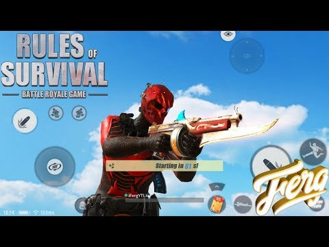 Using NEW THOMPSON SKIN LIONHEART in Rules Of Survival Mobile ROS Mobile