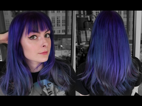 Dyeing My Hair Bright Blue Purple! Using Lunar Tides Dye, Special Effects, and Manic Panic