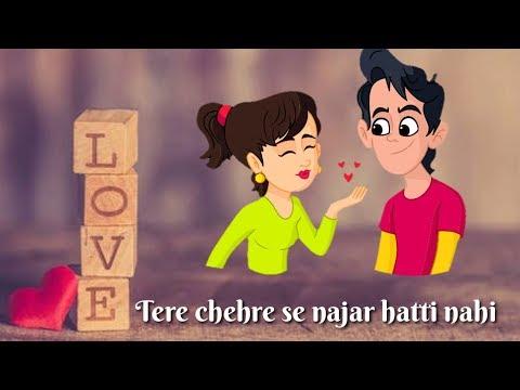 Tere Chehre Se Nazar Hatti Nahi | Love  Whatsapp Status | Romantic Whatsapp Status