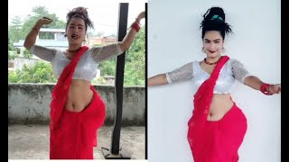 sexy navel  belly nepali wife hot dance viral