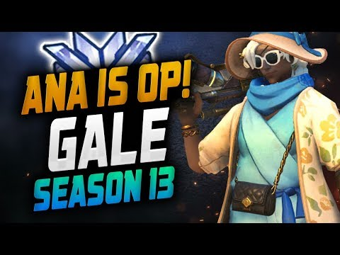 Ana Dominating Season 13 Gale! ANA META!  OVERWATCH SEASON 13 TOP 500