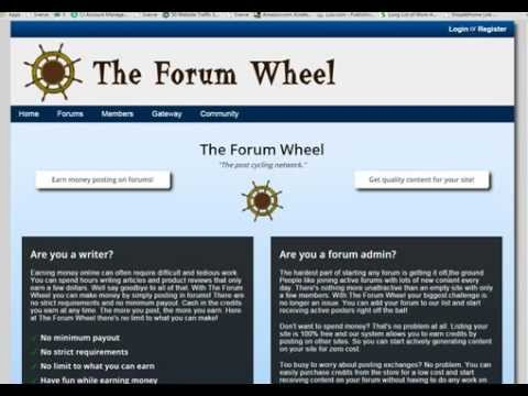 Get Paid Cash Daily to Post on the Forum Wheel