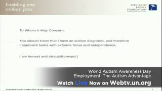 On World Autism Awareness Day, don