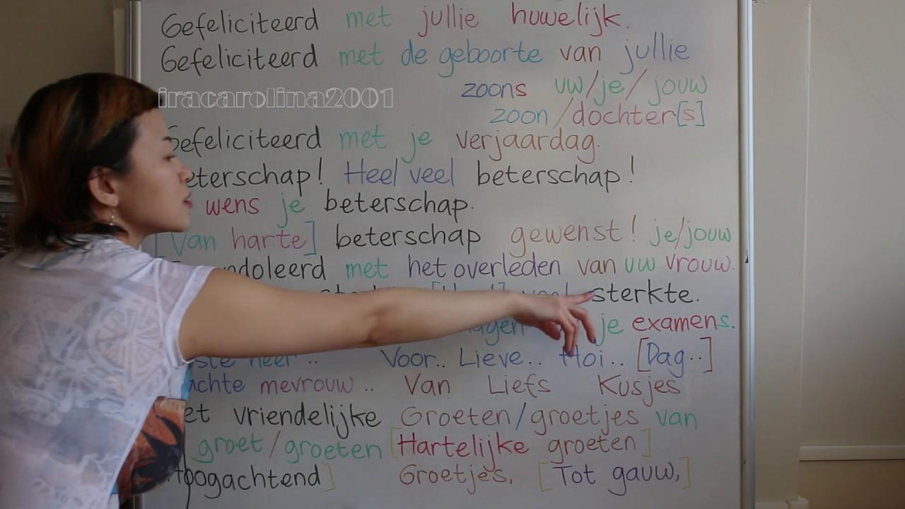 gefeliciteerd in english LEARN DUTCH LANGUAGE/ NETHERLANDS [IN ENGLISH] #39 CONGRATULATIONS  gefeliciteerd in english