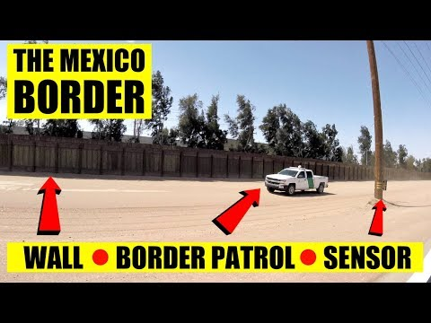LICKING THE MEXICO BORDER WALL - Donald Trumps Wall ??