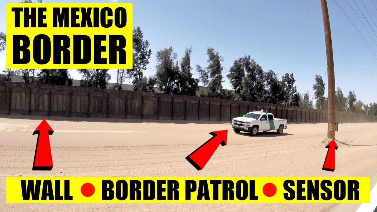 LICKING THE MEXICO BORDER WALL - Chased By Border Patrol!!