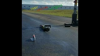 WORLDS FASTEST RC CAR   RAIL  NEW WORLD RECORD 1.17 @ 115MPH TANGY RACING