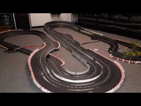 Building 95 feet Carrera Digital Slot Car Track – Time Lapse