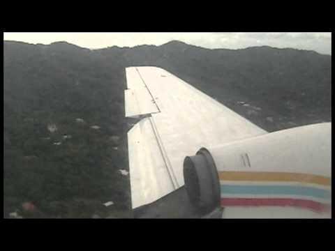 Rollins Air, Jetstream J31, Landing at Roatán Island, MHRO, Honduras