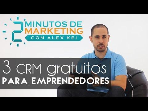 3 CRM gratuitos para emprendedores  [2 min. de Marketing. Ep.#8]