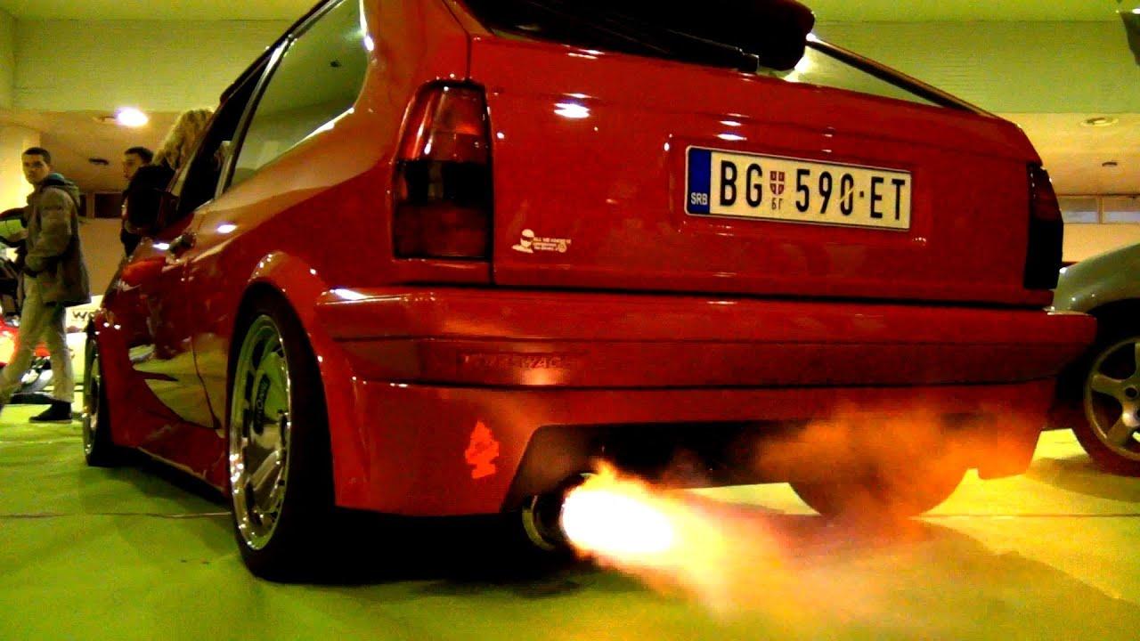 VW Polo Mk2 Amazing Spit Flames