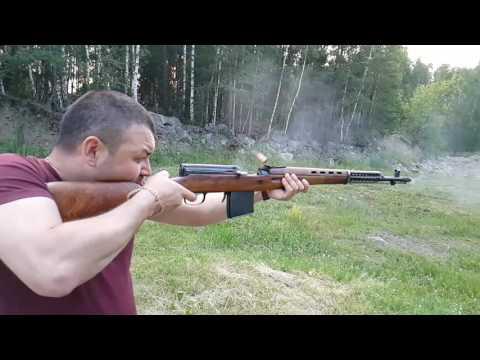 СВТ-40. Стрельба СВТ-40 в замедленной съемкой. - YouTube