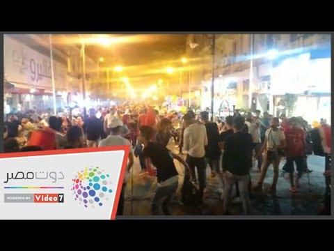 المصريون يحتفلون بافتتاح بطولة أمم أفريقيا فى شوارع وسط البلد  - 22:54-2019 / 6 / 21