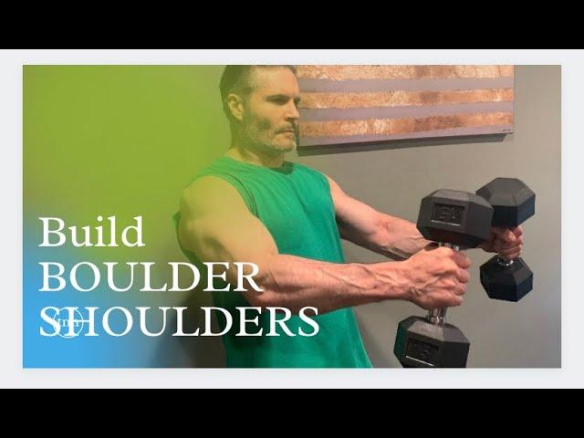 Shoulder workout at home with dumbbells